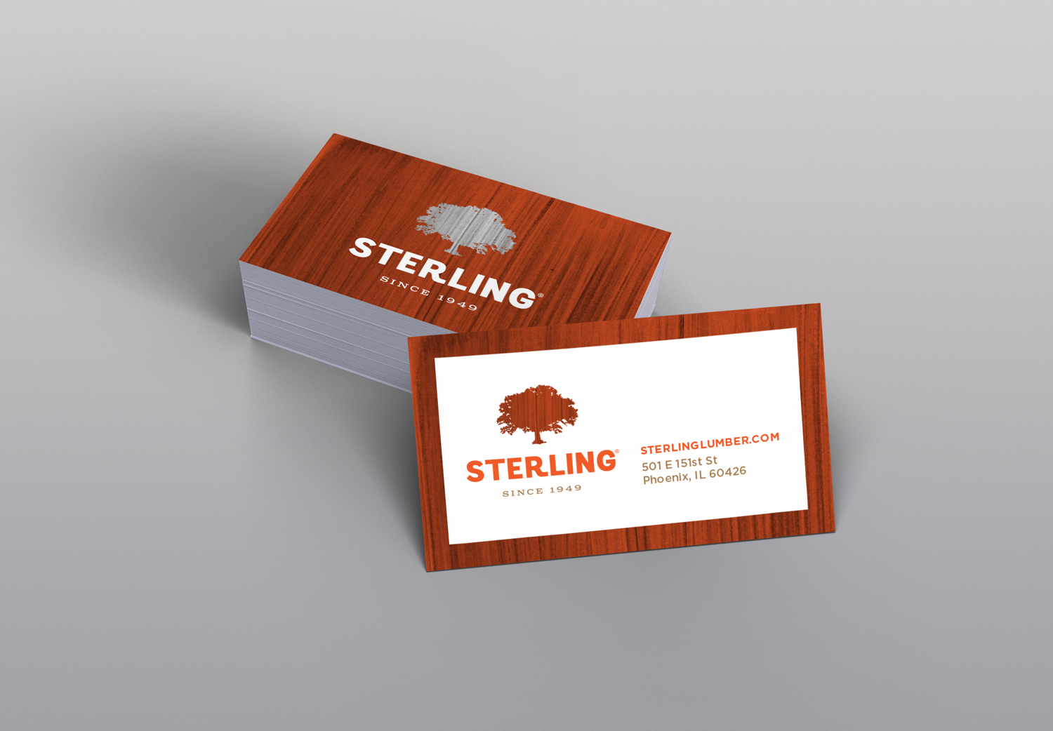 this redesign of their brand utilizes an oak tree which is the core wood used in all of their products each service line uses a color to the